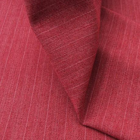 Coupon Polycoton rose framboise à rayures 3m20 en 150cm n°707
