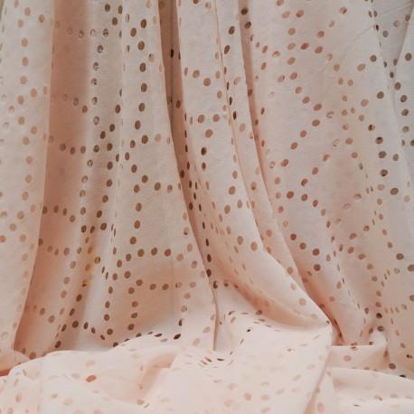 Tissu au mètre voile Polyester pastille rose pâle en 150cm n°711