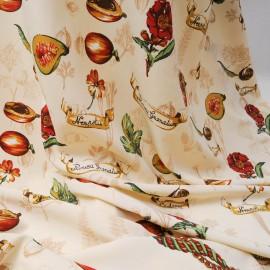 Coupon voile polycoton légumes carré de 1m50 x 1m50 n°713