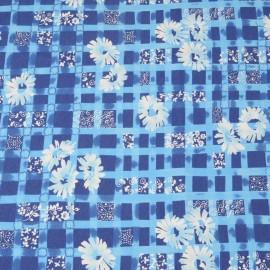 Coupon Jersey de viscose bleu 75cm en 140cm n°717