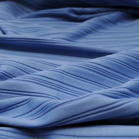 Tissu au mètre jersey de viscose bleu en 110cm n°720