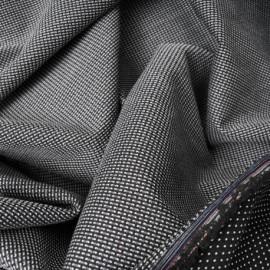 Toile de coton et polyester natté noire n°475 réversible