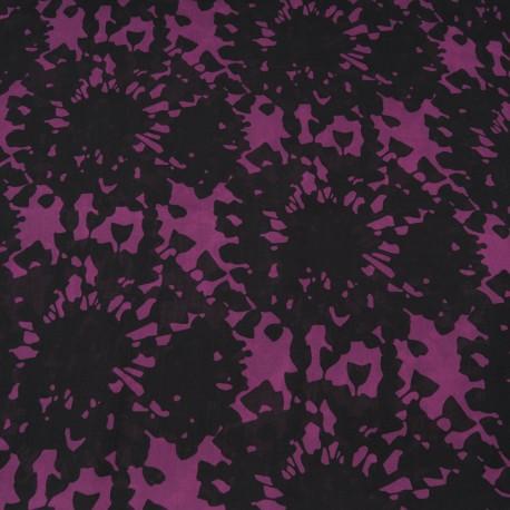Tissu au mètre voile Polyester noir et violet en 150cm n°765