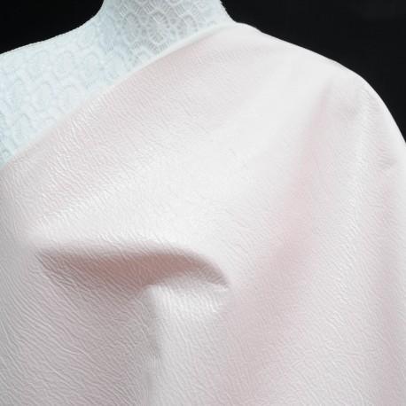 Toile au mètre vinyle rose pâle Haute Couture en 145cm n°767