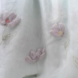 Tissu au mètre en coton et laine vert pâle n° 737 en 150 cm