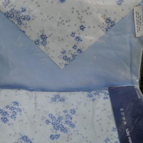 Parure drap coton 240x 310 + drap housse + 2 taies