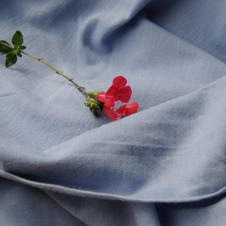 Tissu au mètre jersey de coton bleu lavande en 140 cm n°757