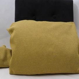 Coupon ameublement toile de polyester jaune 2m50 par 55cm  n°748