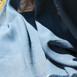 Coupon polyester et coton bleu pétrole 2m30 en 130 cm n°746