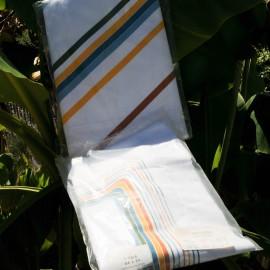 Drap 1 pers 180 x 290 cm 100% Coton blanc