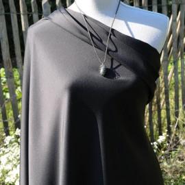 Satin de polyester noir au mètre en 145cm n°800