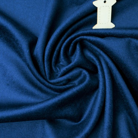 Velours ras bleu saphir au mètre en 152cm n°797