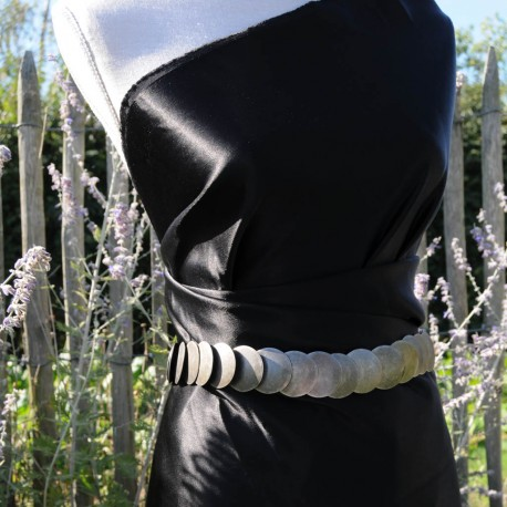 Satin de soie noir Sonia Rykiel en 135cm n° 810