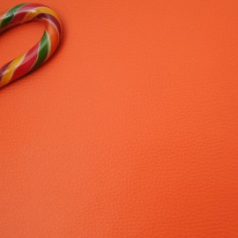Similicuir orange Coupon 48cm x 157cm