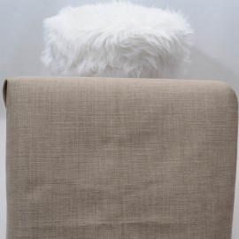 Coupon Toile Lin Polyester 62 x 86 cm beige