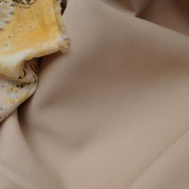Polyester et Laine tergal beige en 160cm n°837