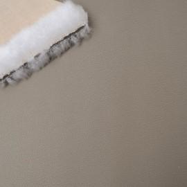 Similicuir taupe Lisse Coupon 36cm x 104cm