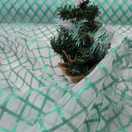 Tulle Noël au mètre losanges en 140cm n°847