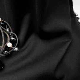 Tissu au mètre Viscose & Polyester noir en 145cm n°615