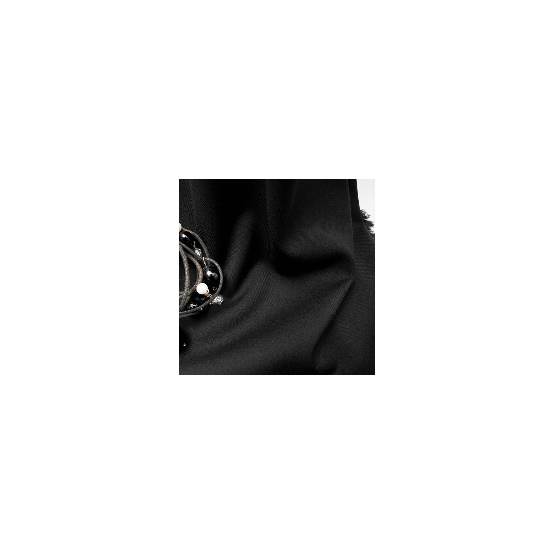 tissu au m tre viscose polyester noir en 145cm n 615 defilentissus. Black Bedroom Furniture Sets. Home Design Ideas