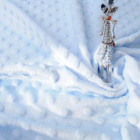 Tissu Minky bleu ciel au mètre en 145cm n°854