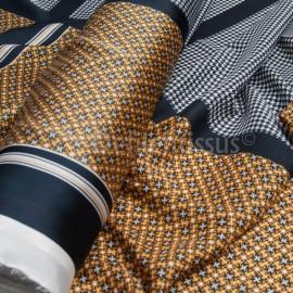 Coupon panneau Polyester façon carré H .... 90cm en 150cm