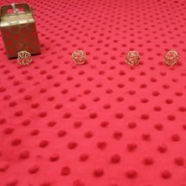 Coupon Tissu Minky rouge 75cm en 145cm n°858