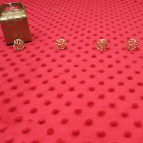 Tissu Minky rouge au mètre en 145cm n°858