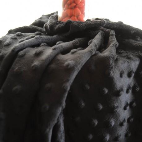 Tissu Minky noir au mètre en 145cm n°864