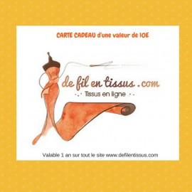 Carte cadeau Valeur 10€
