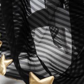 Voile Coton polyamide noir au mètre en 160cm n°225