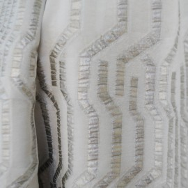 Coupon coton et soie gris clair lamé argent 1m50 en 135cm n°216