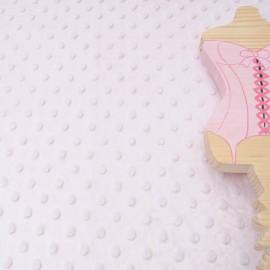 Tissu Minky rose au mètre en 145cm n°853
