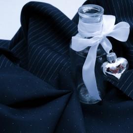 Lainage bleu marine en 150cm n°252 pour manteau léger, veste..