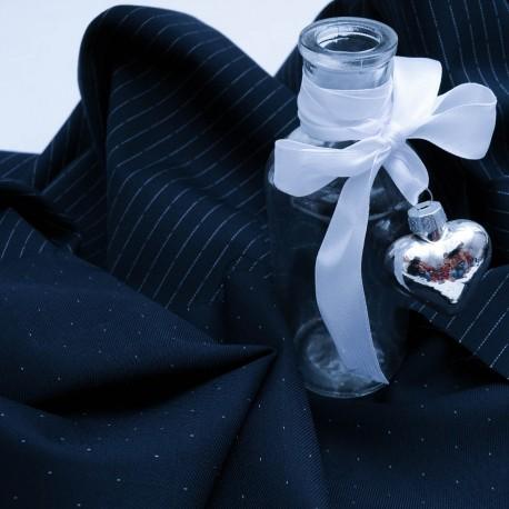 Lainage bleu marine en 150cm n°252 par 50cm pour manteau léger, veste..