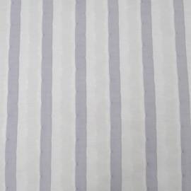 Au mètre Jacquard rayé bleu Haute Couture en 150cm n°904