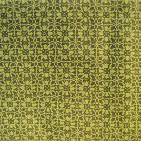 Au mètre toile coton vert anis en 145cm