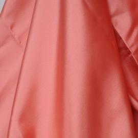 Coupon doublure polyester rose corail 2m80 en 140cm