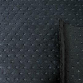 Au mètre tissu épais aspect daim noir perforé en 150cm n°913