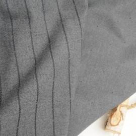 Tissu lainage Coton gris stretch réversible en 150cm n°239