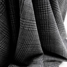 Au mètre Jersey polyester gris Prince de Galles en 170cm n°916