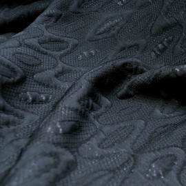 Au mètre tissu Jacquard cloqué noir Haute Couture en 145cm n°931