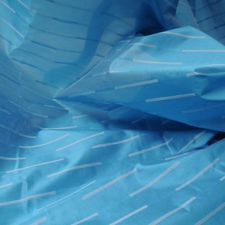 Au mètre Jacquard Soie turquoise Haute Couture en 155cm n°933