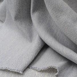 Au mètre Jaquard aspect soyeux bleu et blanc en 145cm Haute Couture n°941