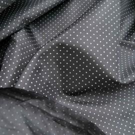 Au mètre doublure noire à pois polyester en 150cm n°67