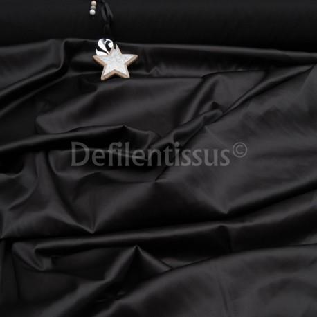 Satin Spandex noir en 150cm n°513