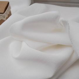 au Mètre Crêpe polyviscose blanc cassé en 150cm n°987
