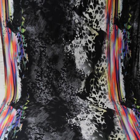 Au mètre Tissu fin jersey viscose multicolore en 145cm n°1002