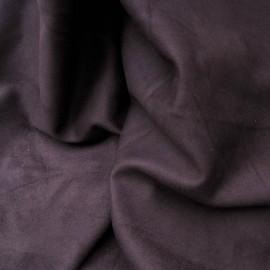 Au mètre suédine violine, effet peau en 155cm, Polyester et Coton n°972
