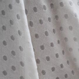 Coupon Mousseline de Coton & Soie, pastilles en dévoré 1m15 en 130cm n°214